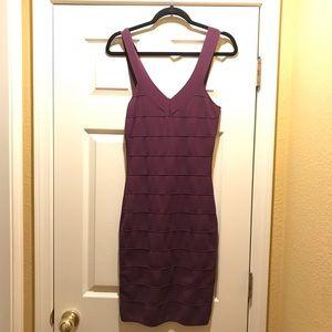 purple bodycon style dress